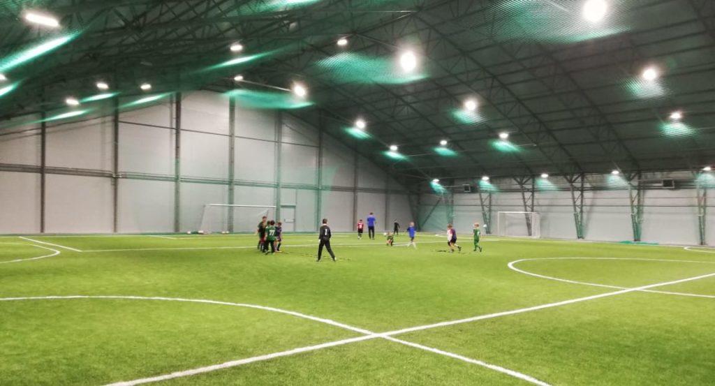 Строительство крытого футбольного манежа