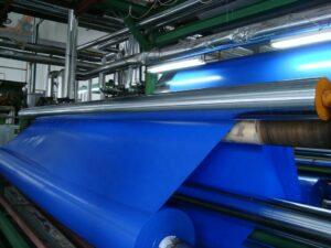 Синяя тентовая ткань