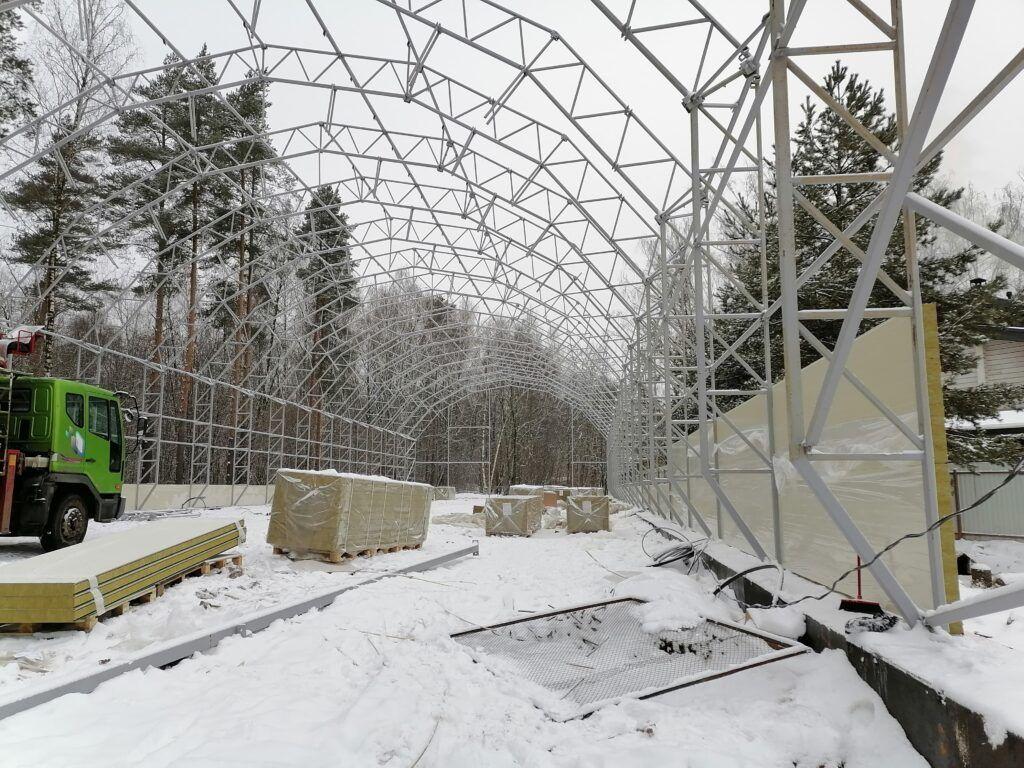 Строительство ангаров зимой