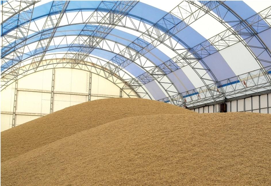 Современное зернохранилище